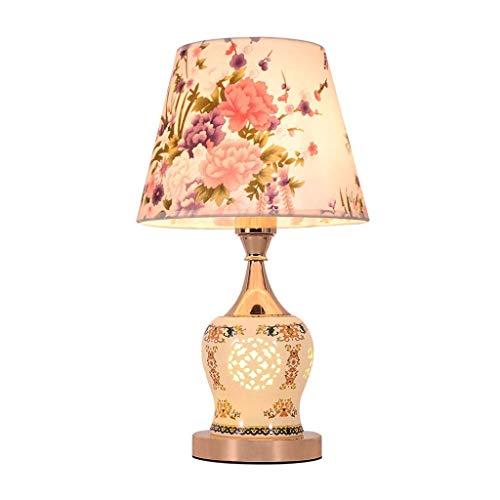 Lámpara de Mesa Tabla simple lámpara moderna europea remoto Control de boda dormitorio lámpara de cabecera de la sala de la manera creativa mesa de estudio de la lámpara del jardín de atenuación Tela