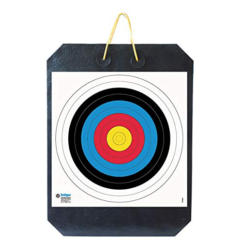 YATE Bogenschießen Zielscheibe Polimix Double mit Griff 80cm x 60cm x 20cm bis 60 lbs (Pfund) Bogensport Bogenschießscheibe Bogenzielscheibe mit 2 Scheibenauflagen 60cmx60cm Indoor & Outdoor