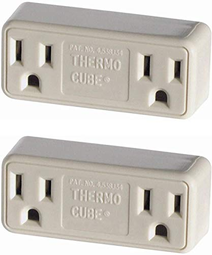 Farm Innovators TC-3 Cold Weather Thermo Cube Thermostatically Controlled Outlet - On at 35-Degrees/Off at 45-Degrees. 2-Pack
