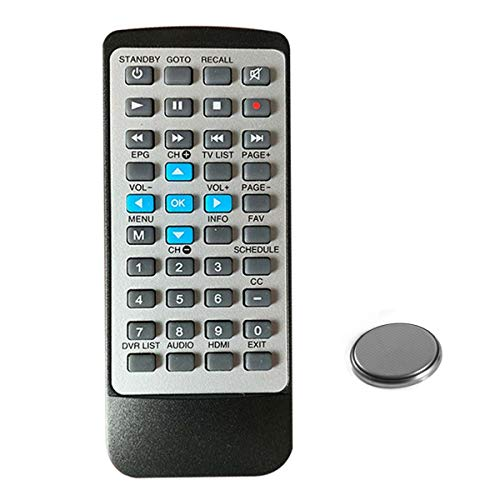 DTA880 Remote Control with Coin Battery for RCA Digital TV Converter Recorder