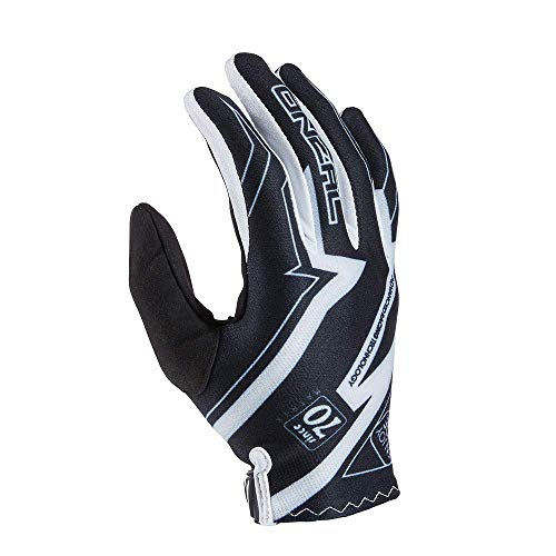 O'NEAL | Fahrrad- & Motocross-Handschuhe | MX MTB Motocross Enduro Motorrad | Leichtes & einfaches Design für ein optimales Gefühl am Lenker | Vault Glove Racewear | Erwachsene | Schwarz Weiß | Größe XL