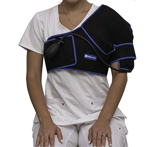 SimplyJnJ Cold Therapy Shoulder Wrap with Compression and Extra Ice Gel Pack - Essential Kit for...