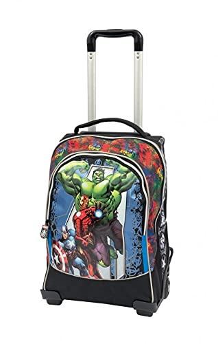 Marvel Avengers 21 Zaino Trolley con Schienale e Spallacci Imbottiti, 2 Ruote Light, Spidey, Giochi Preziosi, Multicolore