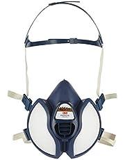 3M Spuitmasker, adembeschermingsmasker met koolfilter voor gas en damp, oplosmiddelen en lakken, fijn stof, anti-gas- en stofmasker, gecertificeerd halfmasker