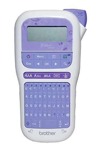 Brother PT-H200 – Tragbares Etikettengerät für kreative Arbeiten und das Organisieren zu Hause – Lieferung mit 1 TZE-Band, 12 mm, Gold/Weiß (4 m), PTH200YP1, andere, norme