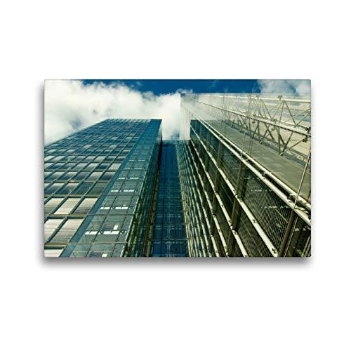 Calvendo Portalámparas de Cristal con Efecto Espejo de una casa Alta con visión de Cielo, 45x30 cm
