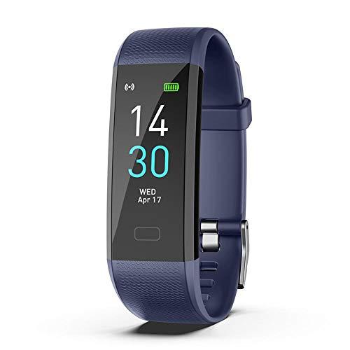 Reloj inteligente con pulsómetro, monitor de fitness, reloj deportivo, resistente al agua IP68, reloj de fitness, para hombre y mujer, llamada SMS, para iOS y Android