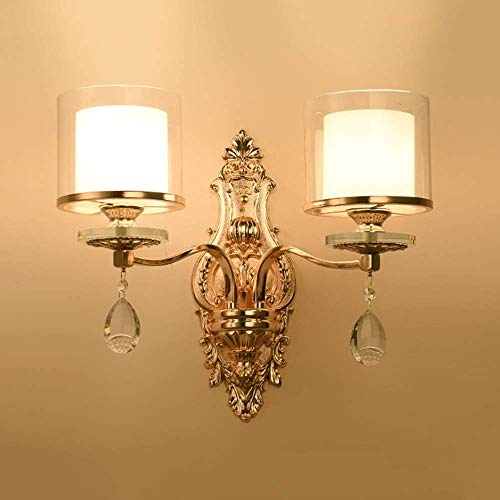 YANQING Duurzame LED Zink Legering Crystal Wandlamp Aisle Corridor Eetkamer Studie Slaapkamer Trappen Balkon Goud Wit Glas Warm Geel Licht Modern