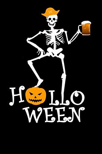 Halloween: A5 Notizbuch Demi Raster / Karo / Kariert 120 Seiten zu Halloween. I Geschenkidee für Fans von Skeletten und Geistern.