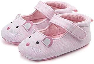 FemmeStopper Baby Pink Mouse Canvas Shoes - 12-18 Months, 14 cm