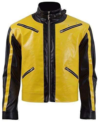 Elegante Wolfenstein II La nueva chaqueta de cuero amarillo Colossus