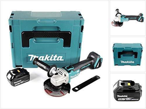 Makita DGA 504 T1J Akku Winkelschleifer 18V 125mm Brushless + 1x Akku 5,0Ah + Makpac - ohne Ladegerät