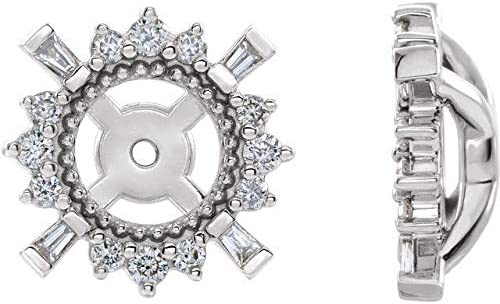 14K White Gold 1 6 CTW Diamond with 4.9 Ranking TOP5 A mm Earrings Animer and price revision ID Jackets