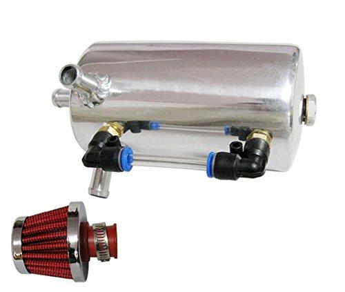 Universel Réservoir Oil Catch Réservoir Peut Reniflard de 0.5 litre avec filtre de Reniflard