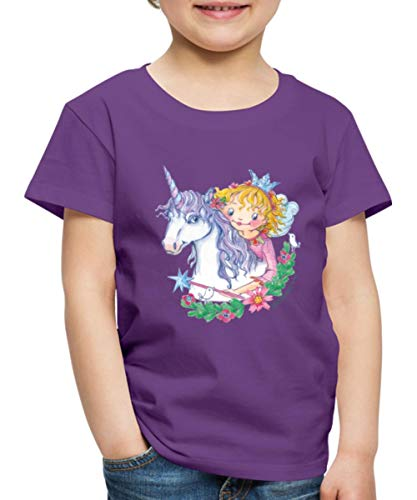 Spreadshirt Prinzessin Lillifee mit Einhorn Rosalie Kinder Premium T-Shirt, 110-116, Lila