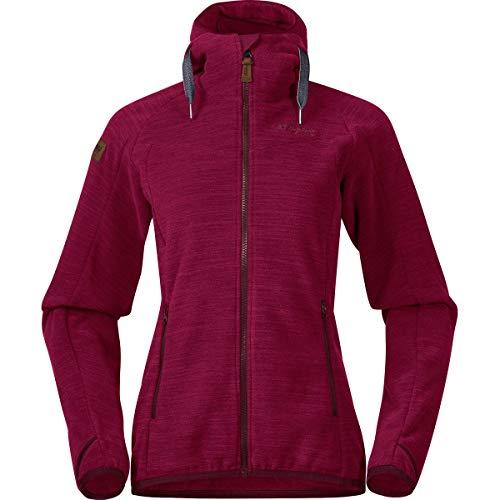 Bergans Hareid Fleece Womens Jacket, XS, zinfandelred Melange