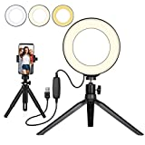 Beauty LED Ringlicht Dimmbar Selfie Light Kit Makeup Fotografie Beleuchtung Mini Kreis Desktop Lampe...