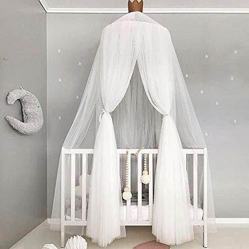 iPenty Mosquitera Baby Cama Infantil, mosquitera Dome Fantasy Round Netting Cortinas con Punta Redonda, Cama baldaquino para niñas/niños/Baby Juegos Habitaciones