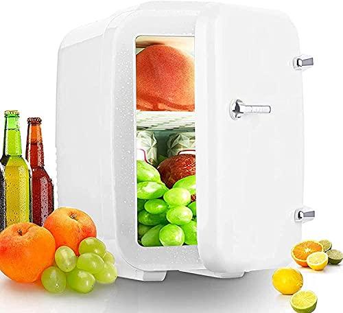 LSWY Mini refrigerador, refrigerador y calentador compacto, nevera pequeña de 12V DC / 220V CA con 0-65  Función de enfriamiento y calentamiento, para dormitorio, cuidado de la piel, oficina, bebidas