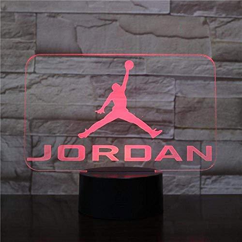 Herren Jordan Schuhe Basketball NachtlichtLED 3D 3D-Illusionssensor Sensor Junge Kinder Kinder Geschenk Schlafzimmer