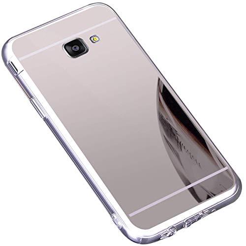 Jinghuash beschermhoes voor Samsung Galaxy A5 (2016) spiegel case zilver.