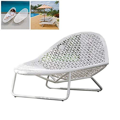 DNNAL Lounge-Sessel Chaise, Chaise Swimmingpool Rattan Bett Balkon Sofa Möbel für Terrasse Balkon Garten Villa Hof Wintergarten (Give Away Matratze)