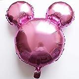 SauParty XL Micky Elio Palloncini Mouse Minnie Testa Disney Battesimo Compleanno Balloon, Colore: R37F13 Rosa