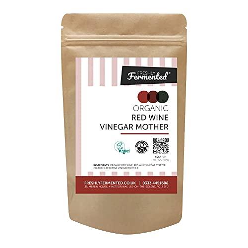 Freshly Fermented – Vinagre de vino tinto crudo, orgánico, sin pasteurizar y cultura madre