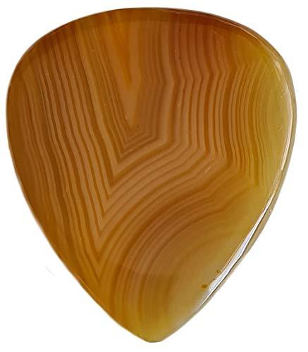 Maybach Guitars Karneol Flat Guitar Pick : Luxus Gitarren Plektrum aus Stein für E-Gitarre, E-Bass, Akustikgitarre, Ukulele und andere Zupfinstrumente