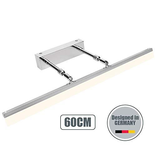 Ralbay Spiegelleuchte 14W LED Spiegellampe Bad Wandlampe Badlampe Badleuchte Schrankleuchte Warmweiß 3000K 910Lm 180°einstellbar Produktlänge: 60CM