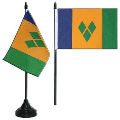 Digni® Drapeau de Table Saint Vincent et Les Grenadines, Mini Drapeau - 10 x 15 cm