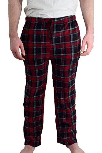 "Calça de pijama masculina Ezi ""James"" de lã, Adom Red, L"