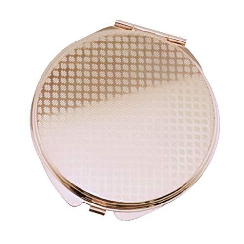 FLAMEER Damen Doppelseitig Taschen Spiegel Portabel Make-Up Kosmetik Spiegel Klappspiegel - Rose Golden