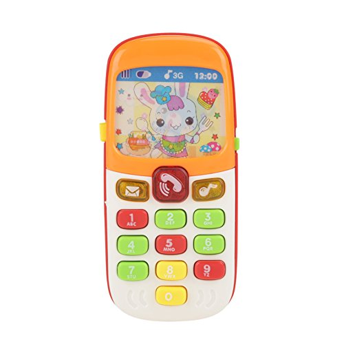 Juegue Teléfono Celular Idioma Infantil Multifuncional Aprendizaje Educativo Temprano Colgando Musical Bebé