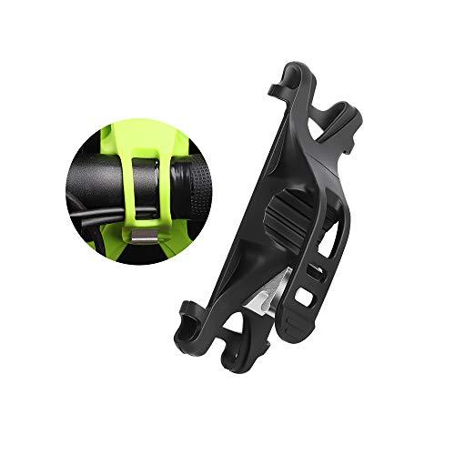 Premium Bike Phone Mount Adjustable Silicone Bicycle Cell Phone Holder Handlebar Rack Compatible for iPhone X 6s 7 8 BLU Studio Mega Vivo XL4 Motorola Moto X G7 G6 Plus Galaxy S9 S8 (Black)
