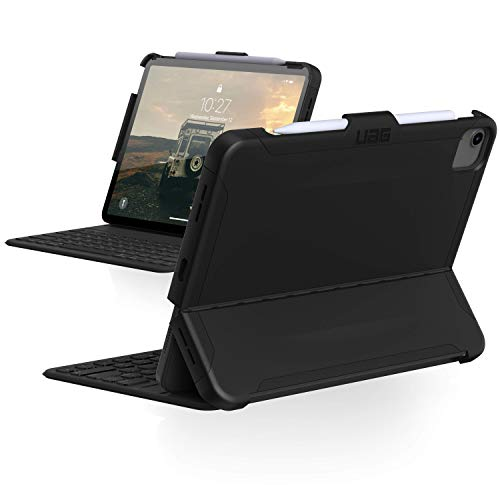 Urban Armor Gear'UAG iPad Air 10.9'' (4th Gen, 2020) Case Scout Slim Heavy-Duty Tough Military Drop Tested Rugged Protective Cover with Apple Pencil Holder, Black'