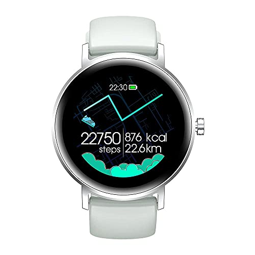 ZHBH Reloj Inteligente, Pantalla táctil, Monitor de Ritmo cardíaco Inteligente, rastreador de Ejercicios, Impermeable, IP67, rastreador de Actividad, Reloj, podómetro, Pulsera Inteligente para mu