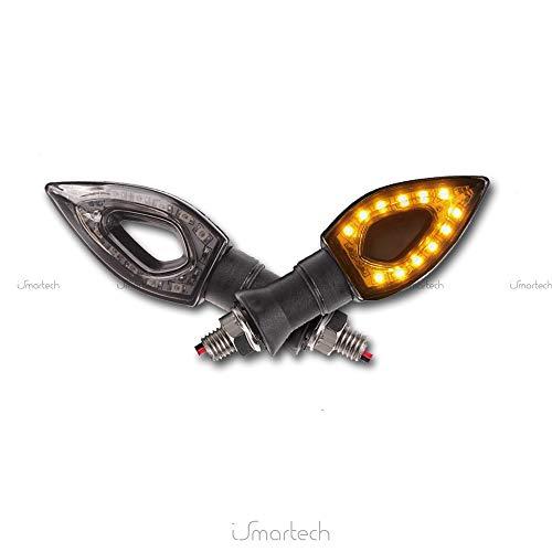 Sonline 2 INDICATORE DI DIREZIONE FRECCE LUCE MOTO AMBRA 12 LED SMD