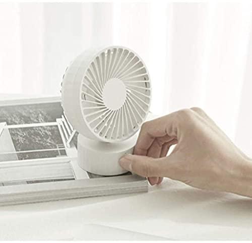 Ankon Ventilador portátil de escritorio Mini Desk Fan, USB Ventilador personal de la mesa con la regulación de la velocidad continua, susurro silencioso, fuerte viento, ventilador de enfriamiento ajus