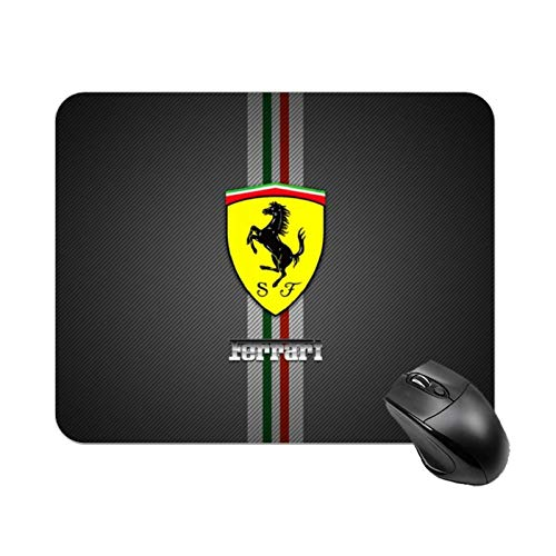 Fer-rari Logo Small Table Mat Gaming Mouse Pad Waterproof Mouse Pads Rubber Base for Computers Laptop