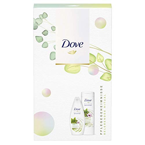 Dove Pflegegeheimnisse Geschenkset Belebendes Ritual für weichere Haut mit Duschgel und Body Lotion (250 ml + 400 ml)