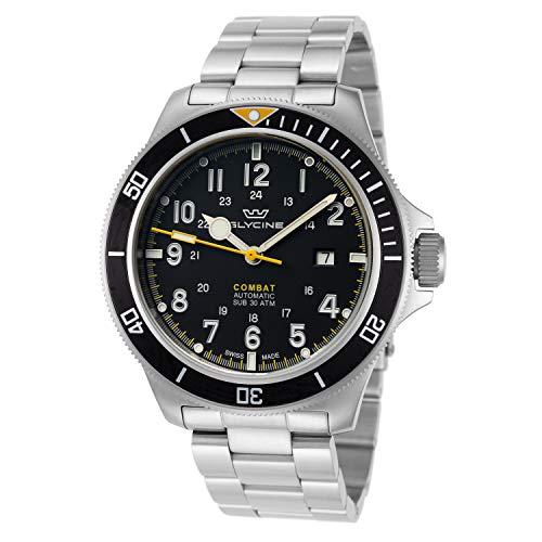 Combat Reloj para Hombre Analógico de Automático con Brazalete de Acero Inoxidable GL0255