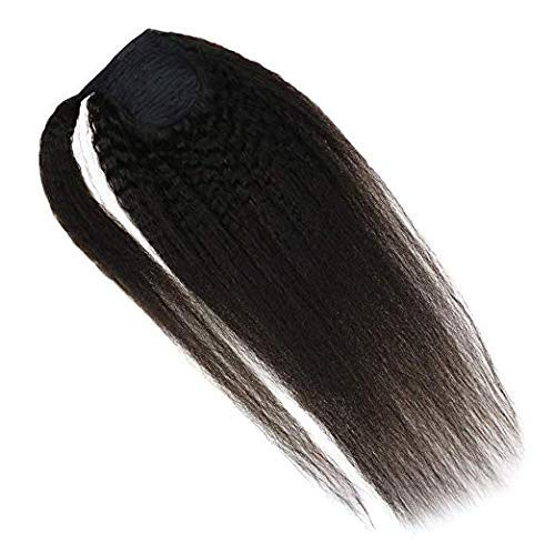 VeSunny Natural Ponytail Extension in Virgin Kinky Straight Texture