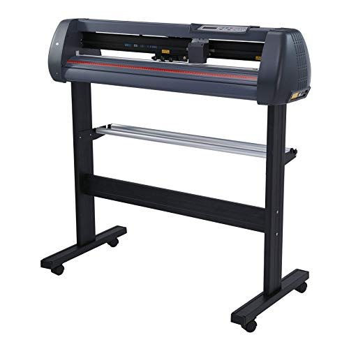 CO-Z 34 inch Vinyl Cutter, Vinyl Cutting Machine with Stand, Digital Graphtec Vinyl Printer Cutting Machine, Vinyl Plotter Machine T-Shirt Decal Bundle Banner Sign Making Tools with Software