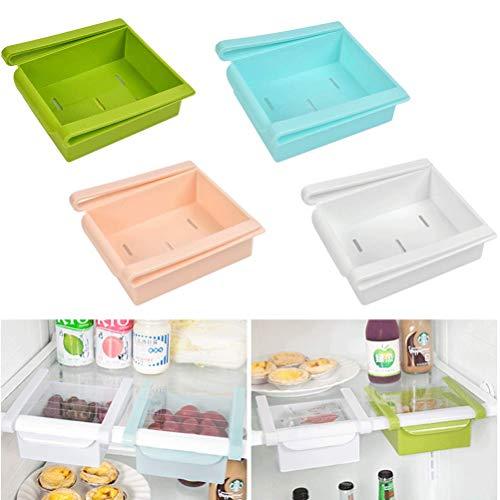 OFNMY Organizer per cassetto scorrevole multicolore da 4 pezzi ideale per frigorifero, cucina, dispensa, frigorifero