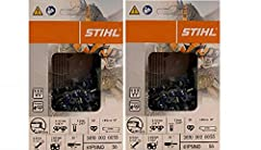 """Pack of 2 Genuine OEM Stihl Parts STIHL PICCO Micro Mini 3 (61PMM3) is a narrow kerf, low-profile, low-kickback chain for smaller chainsaws. 55 Drive Links, 3/8"""" Pitch, .043 Guage, 16"""" Chain Please note: Consult owner's manual for proper part number ..."""