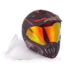 top 10 dual sport helmets NENKI full face motocross double sports helmet and motorcycle helmet, spot tested with iridium red …
