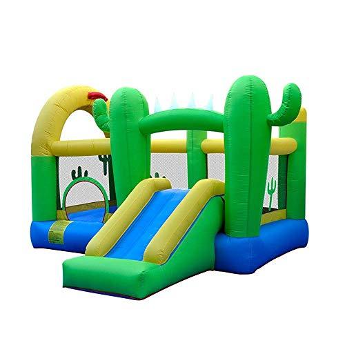 WRJY Castillo Hinchable para niños Castillo Hinchable Inflable para niños Trampolín Inflable con soplador Casa Hinchable Inflable Escalada en Roca Casa de Juegos para niños en el Patio