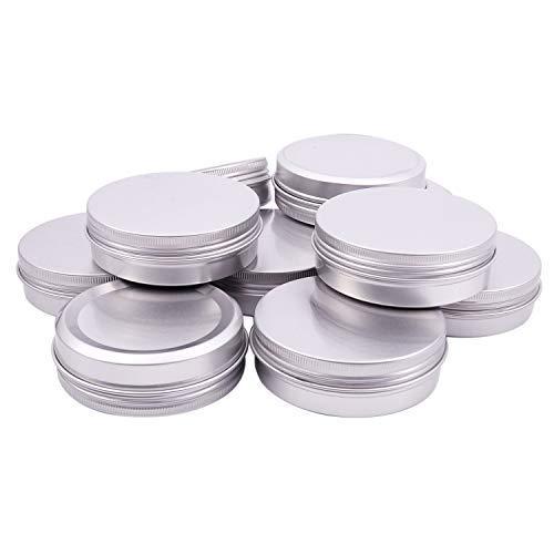 Kamenda 10PCS 100ml aluminium levres Baume Pots Maquillage Cosmetique Creme Bocal Pot Flacon Contenance