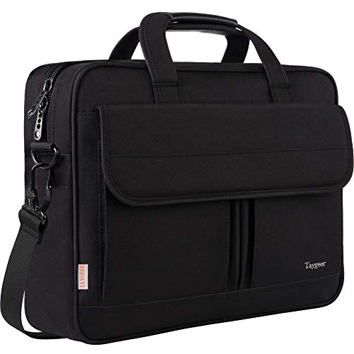 Laptop Bag 15.6 Inch, Business Briefcase for Men Women, 15inch Water Resistant Messenger Shoulder Bag with Strap, Durable Office Bag, Taygeer Carry On Handle Case for Computer/Notebook/MacBook,Black. Buy it now for 25.99
